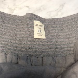 Old Navy Skirts - Old Navy Gray Cotton Mini Skirt size Xl
